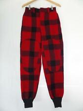 vtg WOOLRICH Red/Black Plaid HUNTING Trousers Pants 30x32