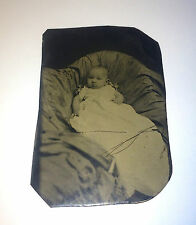Civil War Era Antique Tintype Young Baby / Child, Adorable Chubby Cheeks! 1864