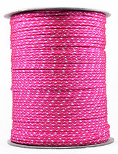 Neon Pink & White Camo - 550 Paracord Rope 7 strand Cord - 1000 Foot Spool