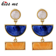 KISS ME New Statement Blue Resin Geometric Earrings Fashion Jewelry ed00679a