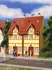Vollmer 3844, Reihen-Doppelhaus (gelb), H0 Gebäude Bausatz 1:87, Neu, OVP