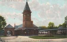Antique POSTCARD c1908 Railroad Station WOBURN, MA 18520
