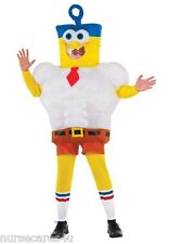SPONGEBOB INFLATABLE  HALLOWEEN COSTUME BLOW UP FAN NICKELODEON CHILD MEDIUM