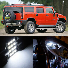 13 White LED Lighting  Interior Light Package Kit Fit Hummer H2 H3 2003 - 2009