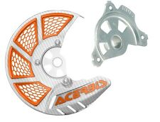 Acerbis White/Orange Disc Cover Mount For KTM 125-500 SX XC 15-17