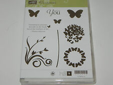 Stampin Up Precious Butterflies CLEAR Mount Stamp Set of 9 Flowers Butterfly NEW