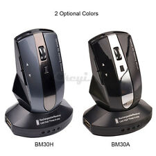 2.4G Wireless Rechargeable Optical Mouse Mice with 3 Ports USB Hub Charging Dock