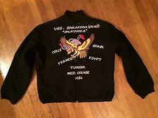 Rare Deadstock California 1989 90 USS Stump Eagle Wool Tour Jacket Sz Lrg X