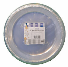 "50ct Plastic Clear 9"" Plates Wedding Party Dinnerware"