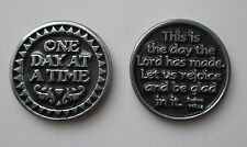 x One day at a time This is the day the Lord has made AA POCKET TOKEN CHARM