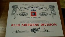 US 82nd airborne special forces para cert