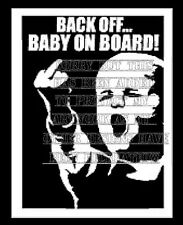 Vinyl rude funny BACK OFF baby on board sign decal sticker tinted windows design
