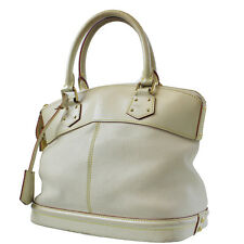 LOUIS VUITTON Lockit Hand Bag Blanc White Suhali Leather M91874 Auth #4599 W