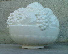 Sculpture faience craquele SARREGUEMINES coupe de fruits art deco 4928