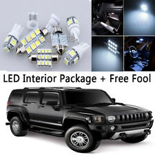 11X Bulb Car LED Interior Lights Package kit For 2006-2010 Hummer H3 White NQ