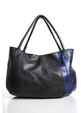 GOLDEN GOOSE DELUXE BRAND Blue Leather Charlye Shoulder Tote Handbag In DUST BAG