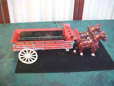Vintage Die Cast Horse Drawn Trailer/Wagon
