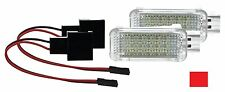 2X LED SMD Modul Fußraumbeleuchtung Audi A6 C6 C7 A7 ROT