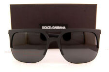 Brand New Dolce & Gabbana Sunglasses DG 6098 2616/87 Black Rubber/Grey For Men