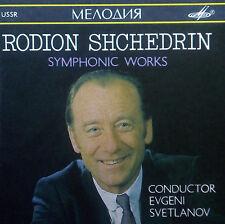 CD shchedrin-symphonic works, svetlanov, Melodiya
