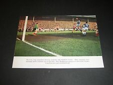 signed cutting by Alan Hodgkinson Sheffield United & Ken Leek Leicester City