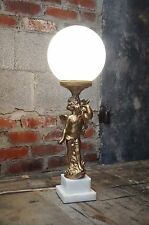 Vintage Victorian Style Gone with the wind GWTW Type Banquet Lamp Cherub Angel