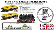 NEW PIKO BR80 G SCALE ELECTRIC TRACK & NQD STARTER SET LGB BACHMANN COMPATIBLE