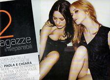 SP85 Clipping-Ritaglio 2008 Paola e Chiara 2 Ragazze inseparabili