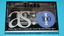1x THAT'S as I 100 Cassette Tape 1990 + NEW & SEALED + Collector's Condition +