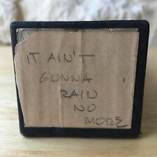 QRS Player Piano Roll It Ain't Gonna Rain No More Vintage Word Roll
