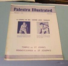 1958 Palestra College Basketball Game Program Penn St. Joe's Temple St. John's