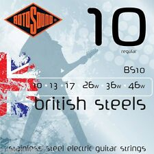 Rotosound BS10 British Stainless Steel Electric Guitar Strings 10-46 Regular