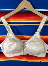 Classic Vintage Sissy Pin-Up Style BALI Beige Nude Floral Bullet Bra 36C