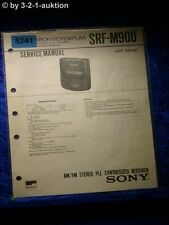 Sony Service Manual SRF M900 PLL Synthesized Receiver (#5241)