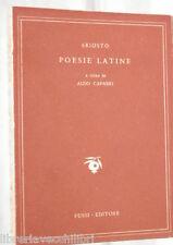 POESIE LATINE Ludovico Ariosto A cura di Aldo Capasso Fussi Poesia Classici di e