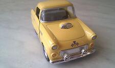 1955 FORD thunderbird jaune DRÔLE kinsmart Jouet miniature Voiture cadeau