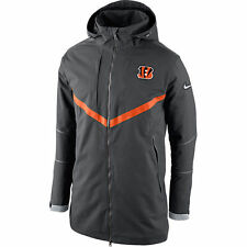 New NIKE 638929 Cincinnati Bengals NFL Onfield Down PARKA Coat Mens 2XL $400
