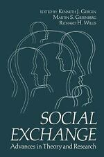 Social Exchange: Advances in Theory and Research-ExLibrary