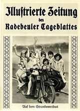 Auf dem Strandomnibus Motorrad mit Beiwagen Motorradbräute Titelblatt von 1928