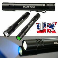 QUALITY BRAND FIRE Ultra Violet UV Flashlight Pen Torch 3W Cree 365nm Blacklight