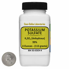 Potassium Sulfate [K2SO4] 99% Reagent Grade Crystals 4 Oz in a Bottle USA