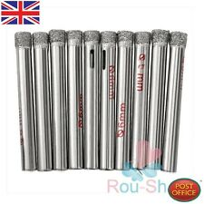 10 x Diamond Coated Drill Bit Set 6mm Dia Hole Saw Glass Granite Cutter Tip Hot