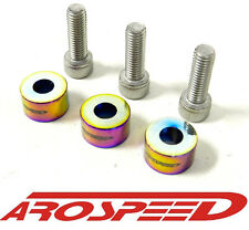 AROSPEED NEO CHROME BILLET ALUMINUM DISTRIBUTOR BOLT + WASHER FOR HONDA ACURA