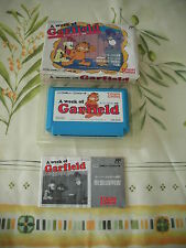 GARFIELD'S WEEK TOWA CHIKI ACTION NES FAMICOM JAPAN IMPORT COMPLETE IN BOX