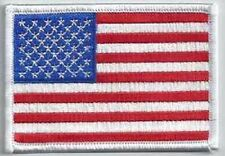 US FLAG WHITE BORDER EMBROIDERED PATCH