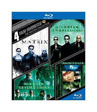 4 Film Favorite The Matrix Collection Blu-ray 4-Disc Set 2015 Keanu Reeves Moss