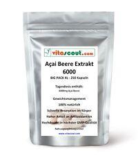 Acai Beere Berry 6000! 250 Kapseln - Fettverbrennung - Detox - Diät  PN: 0102503