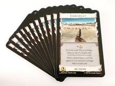Dominion Seaside Card Game Replacement - Embargo Action Card 11x