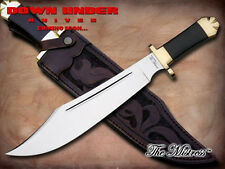 DOWN UNDER KNIVES DUKM THE MISTRESS BOWIE KNIFE WITH LEATHER SHEATH.