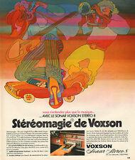 Publicité 1973  SONAR VOXSON STEREO 8  adopté par Rolls Royce et Ferrari